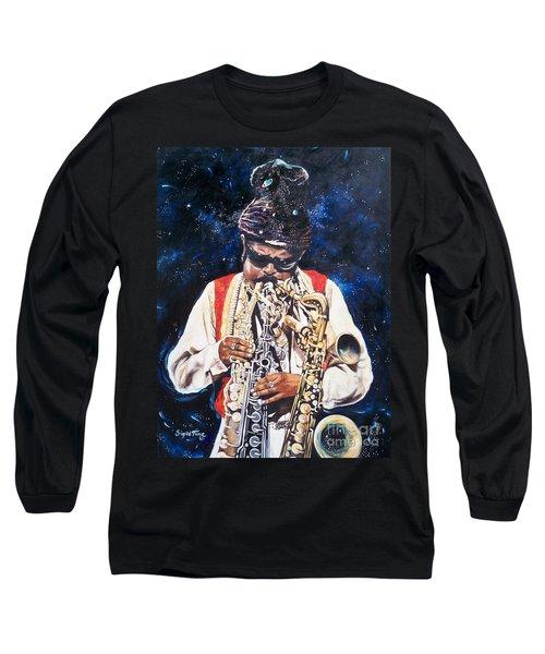 Rahsaan Roland Kirk- Jazz Long Sleeve T-Shirt by Sigrid Tune