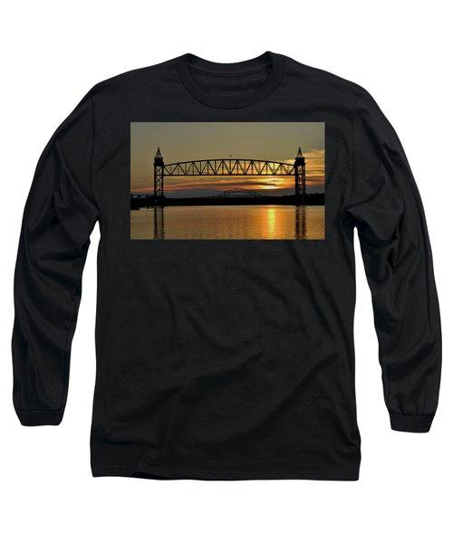 Railroad Bridge Over The Canal Long Sleeve T-Shirt