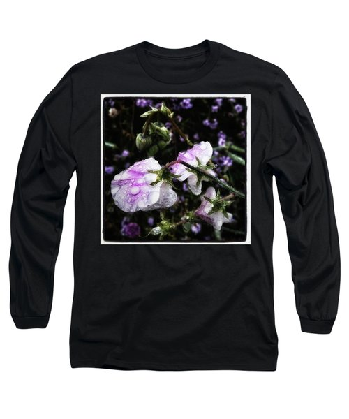 Long Sleeve T-Shirt featuring the photograph Rain Kissed Petals. This Flower Art by Mr Photojimsf