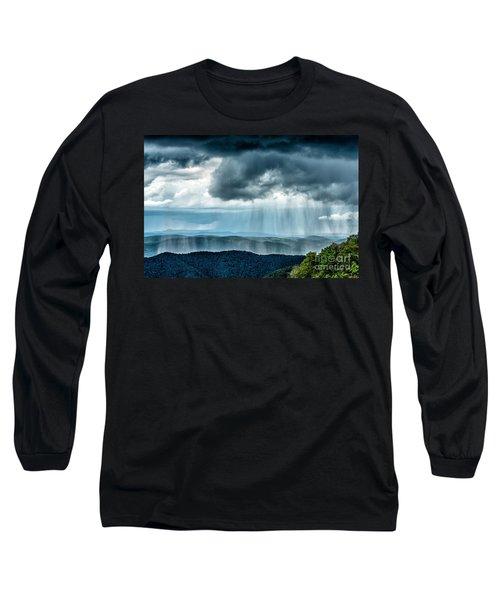 Long Sleeve T-Shirt featuring the photograph Rain Shower Staunton Parkersburg Turnpike by Thomas R Fletcher