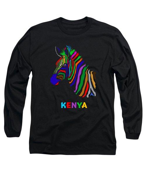 Long Sleeve T-Shirt featuring the digital art Rainbow by Anthony Mwangi