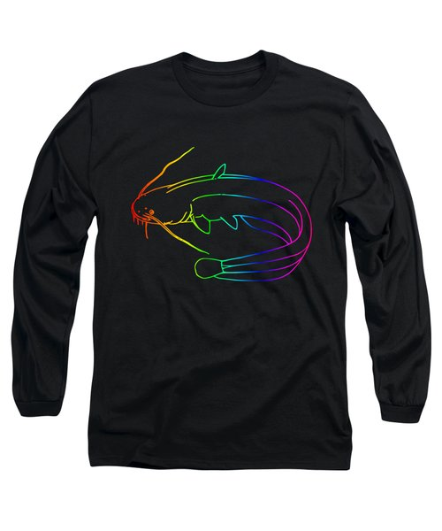 Rainbow Catfish Long Sleeve T-Shirt by Frederick Holiday