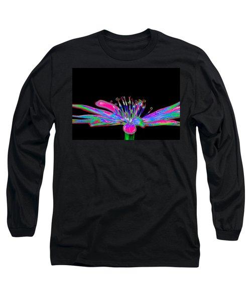 Rainbow Chicory Long Sleeve T-Shirt by Richard Patmore