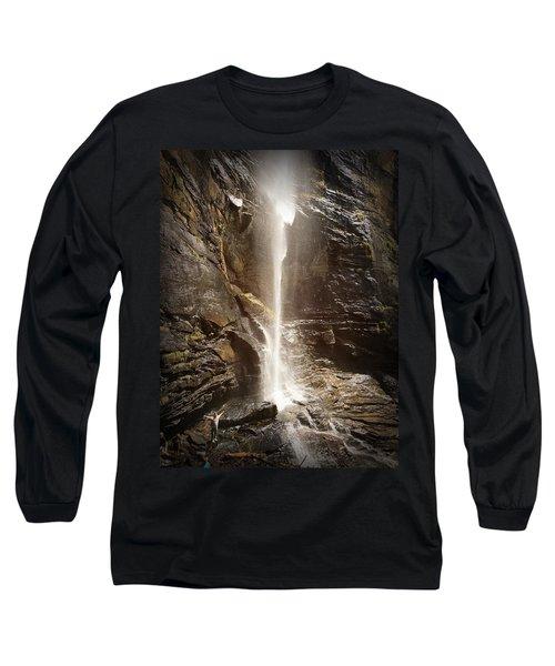 Rainbow Falls Of Jones Gap Long Sleeve T-Shirt by Kelly Hazel
