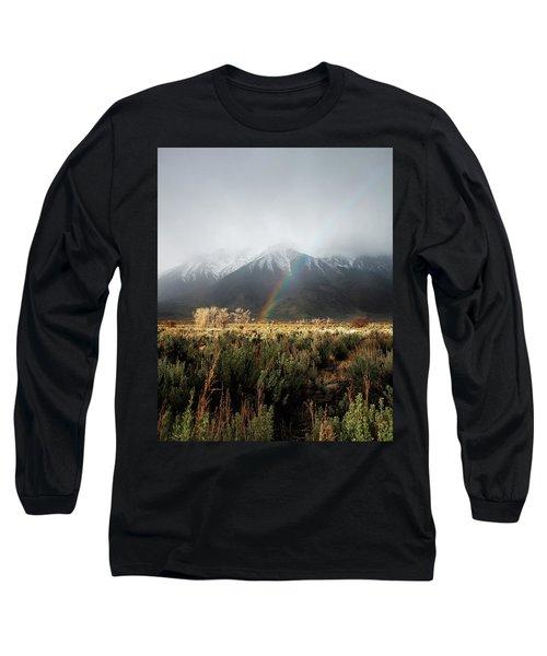 Rainbow In Eastern Sierra Nevadas Long Sleeve T-Shirt