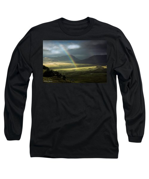Rainbow In The Valley Long Sleeve T-Shirt by Andrew Matwijec