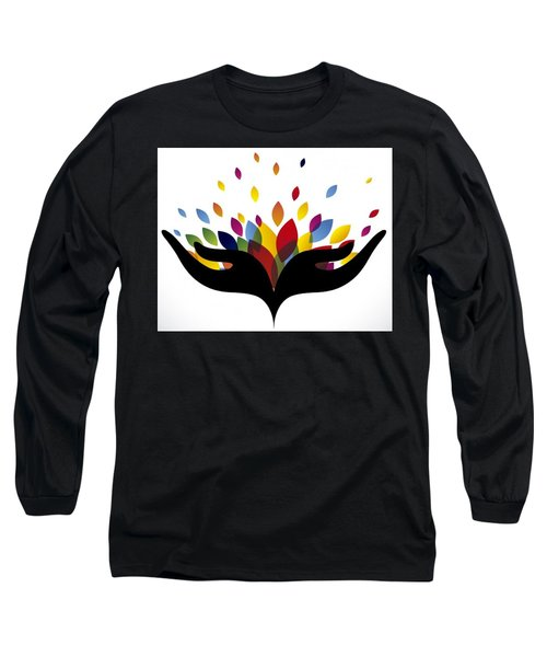 Rainbow Leaves Long Sleeve T-Shirt by Now