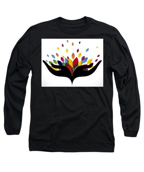 Rainbow Leaves Long Sleeve T-Shirt