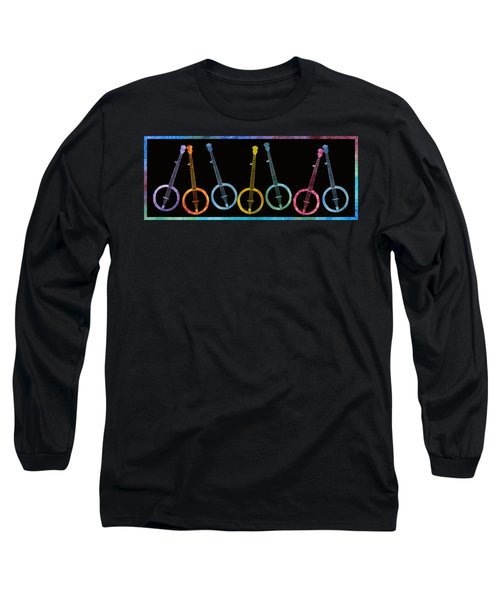 Rainbow Of Banjos Long Sleeve T-Shirt