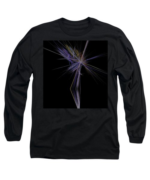 Long Sleeve T-Shirt featuring the digital art Rainbow Palm by Sara  Raber