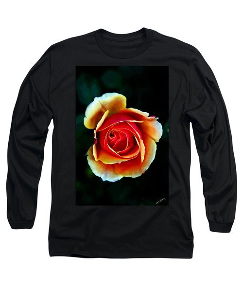 Long Sleeve T-Shirt featuring the photograph Rainbow Rose by John Haldane