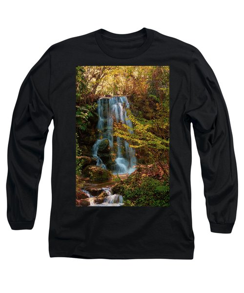 Long Sleeve T-Shirt featuring the photograph Rainbow Springs Waterfall by Louis Ferreira