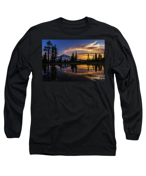 Rainier Sunrise Reflection #2 Long Sleeve T-Shirt