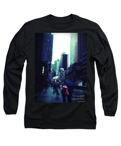 Rainy Day New York City Long Sleeve T-Shirt