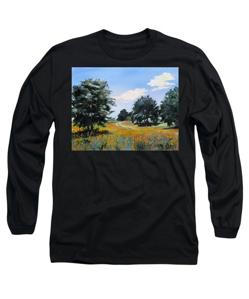 Ranch Road Near Bandera Texas Long Sleeve T-Shirt
