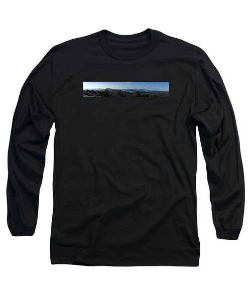 Rangeley Lake Sunset Panoramic Long Sleeve T-Shirt