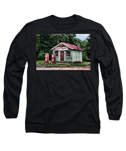 Rankins Grocery In Watercolor Long Sleeve T-Shirt