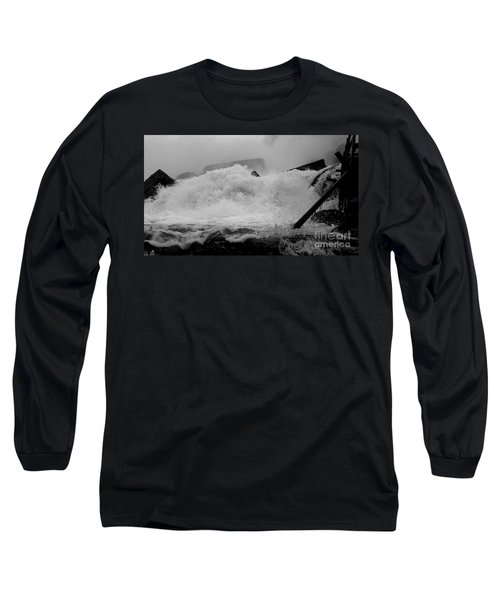 Long Sleeve T-Shirt featuring the photograph Rapids  by Raymond Earley