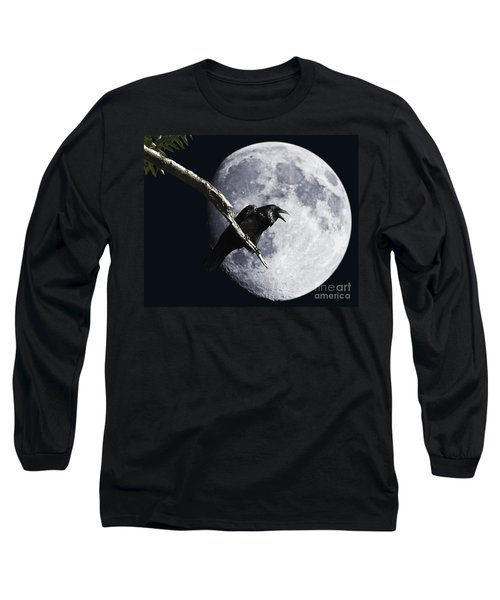 Raven Barking At The Moon Long Sleeve T-Shirt