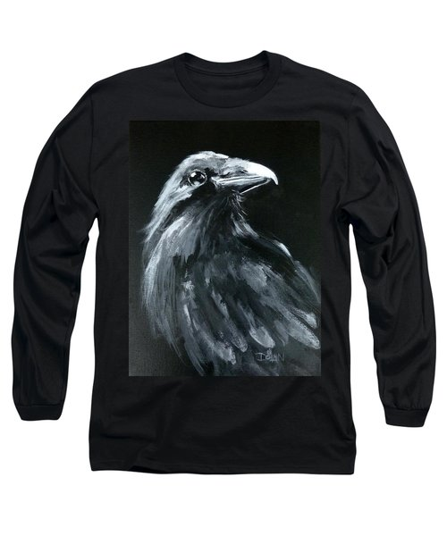 Raven Looking Right Long Sleeve T-Shirt