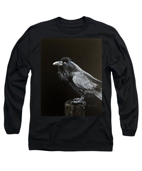 Raven On Post Long Sleeve T-Shirt