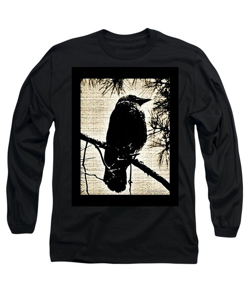 Raven On The Lookout Long Sleeve T-Shirt