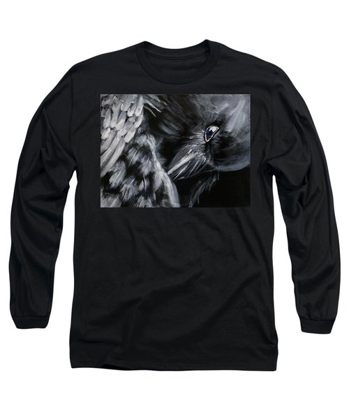 Raven Preening Long Sleeve T-Shirt