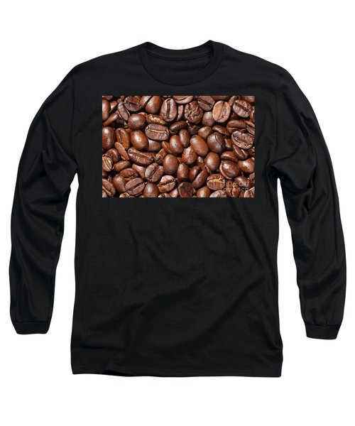 Raw Coffee Beans Background Long Sleeve T-Shirt