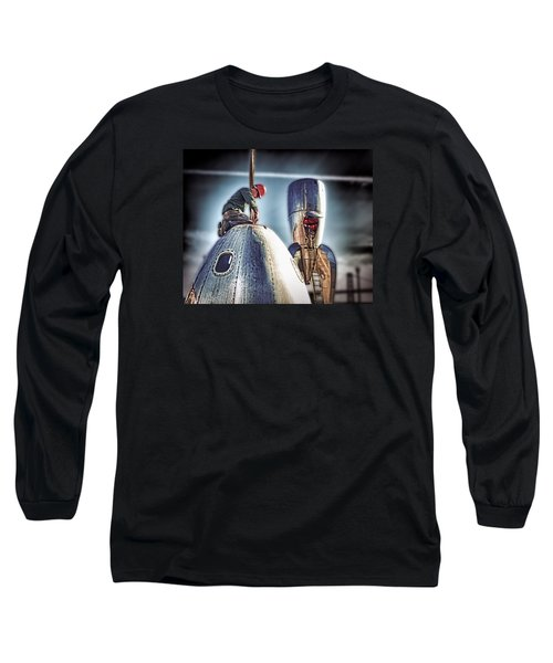 Long Sleeve T-Shirt featuring the photograph Raygun Gothic Rocketship Safe Landing by Steve Siri