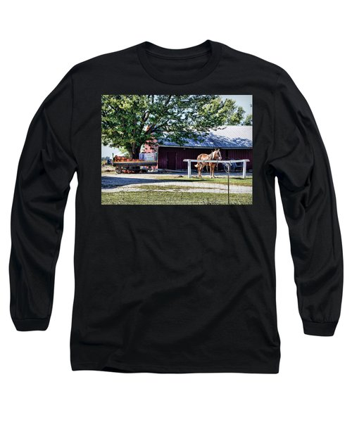 Long Sleeve T-Shirt featuring the photograph Ready And Waiting by Cricket Hackmann