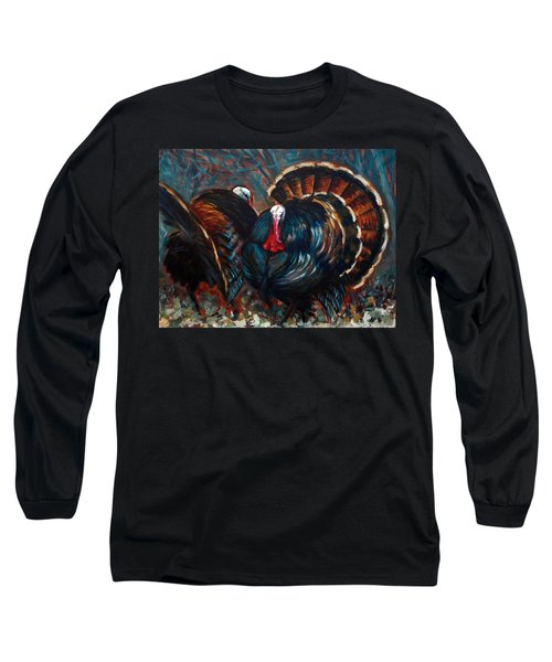Long Sleeve T-Shirt featuring the painting Ready To Rumble by Suzanne McKee