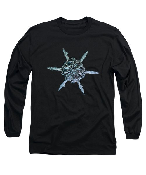 Real Snowflake Photo - The Shard Long Sleeve T-Shirt