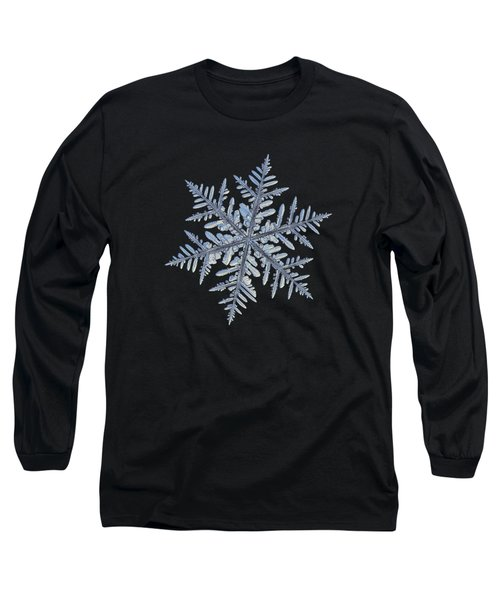 Real Snowflake - Silverware Black Long Sleeve T-Shirt