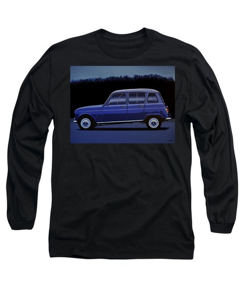 Renault 4 1961 Painting Long Sleeve T-Shirt