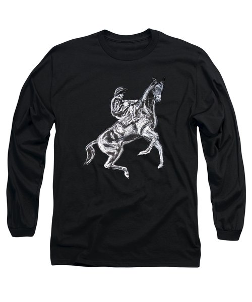 Rearing Horse Long Sleeve T-Shirt by Tom Conway