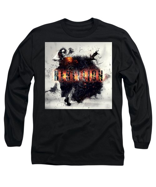 Long Sleeve T-Shirt featuring the digital art Rebellion by Mo T