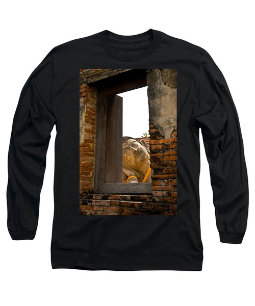Reclining Buddha View Through A Window Long Sleeve T-Shirt