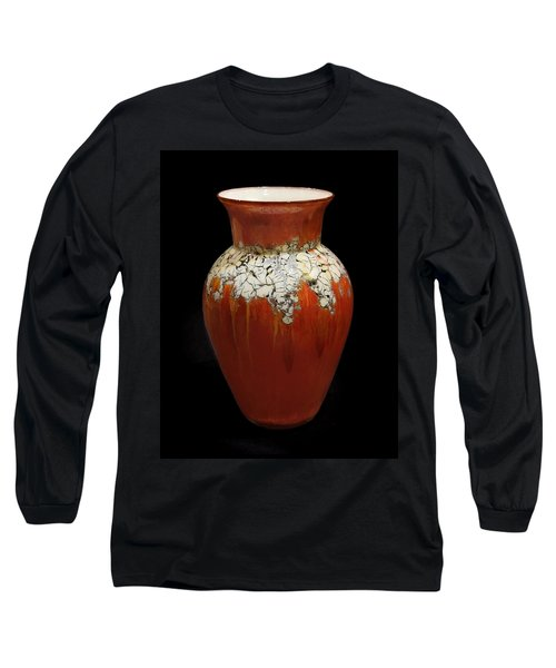 Red And White Vase Long Sleeve T-Shirt