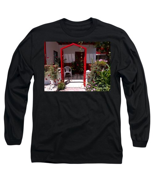 Red Arch On Lesvos Long Sleeve T-Shirt