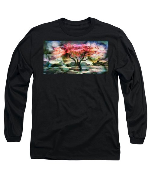 Red Autumn Tree Long Sleeve T-Shirt