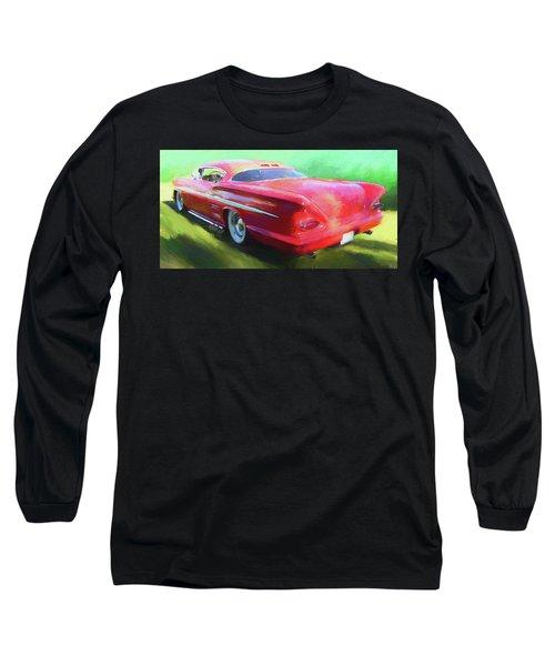 Red Custom Long Sleeve T-Shirt