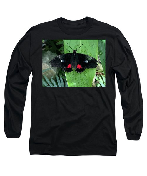 Red Design On Wings Long Sleeve T-Shirt