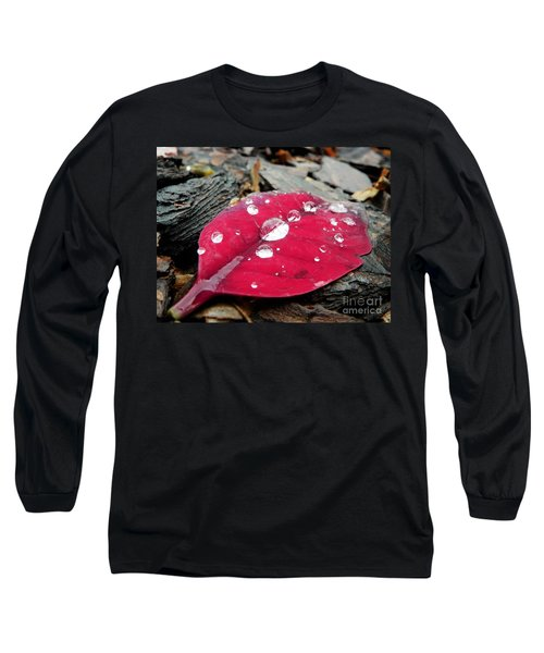 Red Fall Leaf Long Sleeve T-Shirt