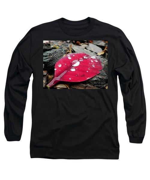 Red Fall Leaf Long Sleeve T-Shirt
