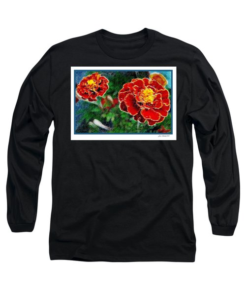 Long Sleeve T-Shirt featuring the photograph Red Flower In Autumn by Joan  Minchak