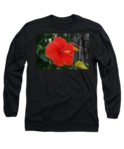 Long Sleeve T-Shirt featuring the photograph Red Flower by Rob Hans
