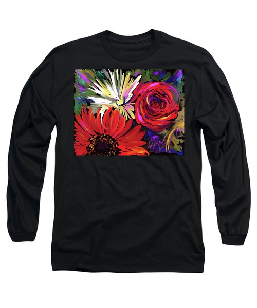Red Flowers Long Sleeve T-Shirt by DC Langer