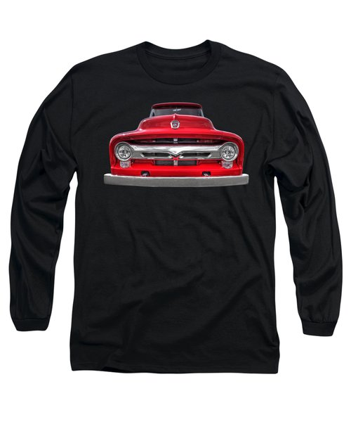 Red Ford F-100 Head On Long Sleeve T-Shirt