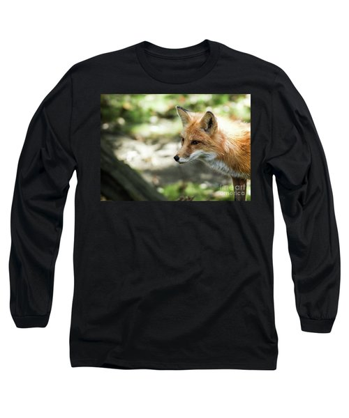 Red Fox Long Sleeve T-Shirt by Lisa L Silva