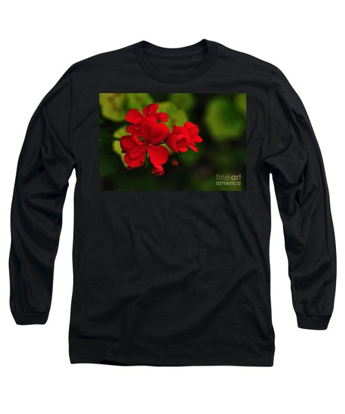 Red Geranium Long Sleeve T-Shirt